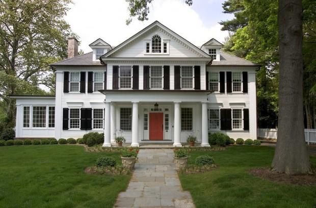 Los hogares de estilo yankee  colonial