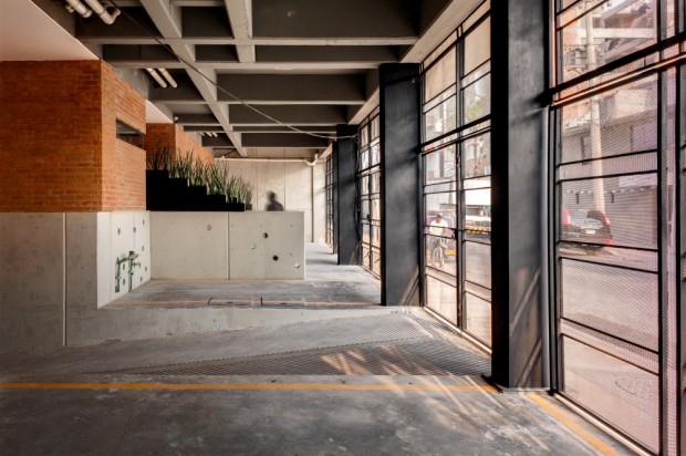 Proyecto de viviendas sociales garaje