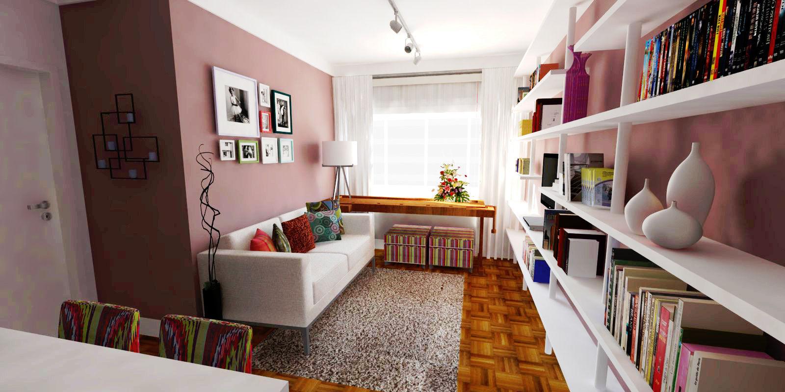 Imagen salas coloridas for Imagenes de interiores de casas minimalistas
