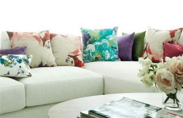 Textiles con estampados floreados en primavera - verano 1