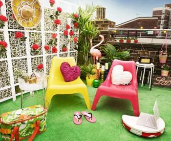 Una Terraza Encantadora De Ikea