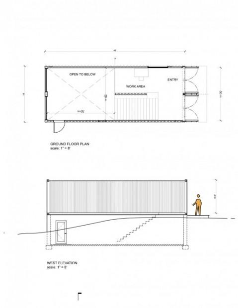 Arquitectura con containers plano