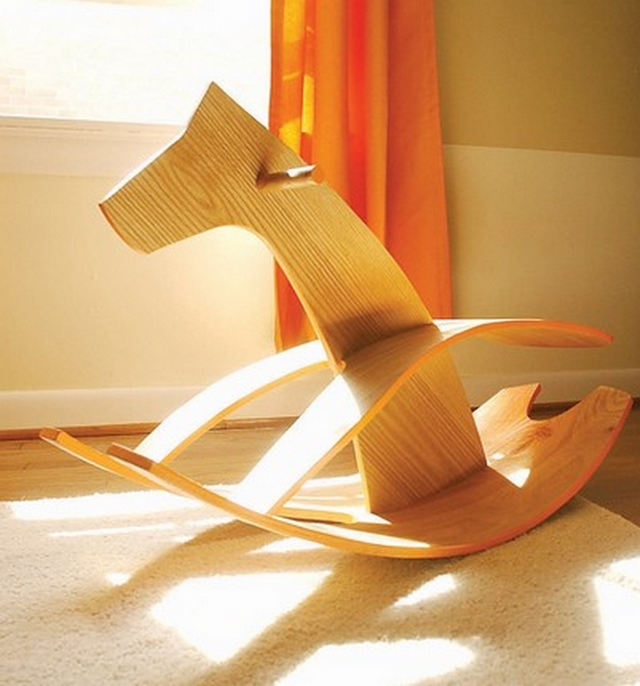 Caballitos balancines modernos para el dormitorio de los niños 3