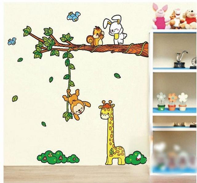 Decoración de dormitorios infantiles temática animales