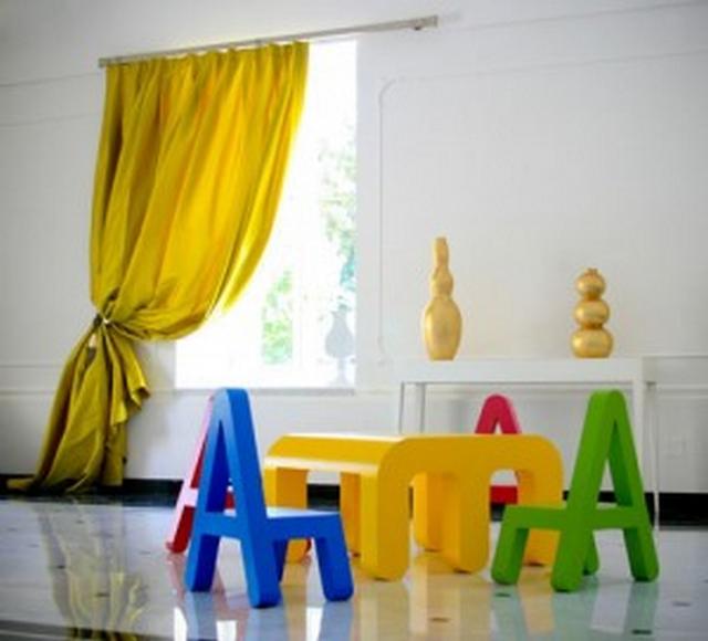 Decoraci n de habitaciones infantiles con letras y n meros - Letras para paredes infantiles ...