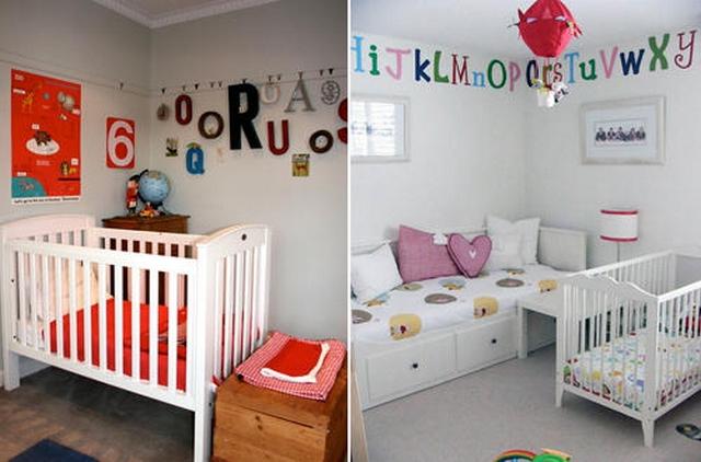 Decoraci n de habitaciones infantiles con letras y n meros - Habitaciones infantiles decoracion paredes ...