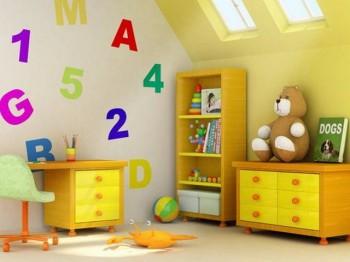 Decoracion de habitaciones infantiles con letras y numeros
