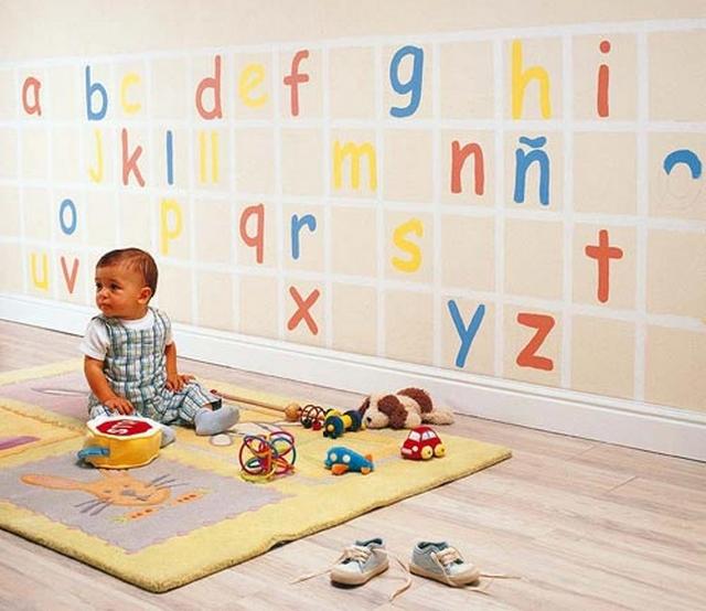 Decoracion de habitaciones infantiles con letras y numeros 4