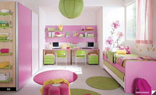 Decorar dormitorios infantiles con circulos de colores 2