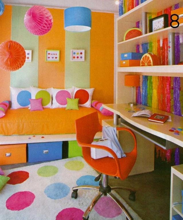 Decorar dormitorios infantiles con circulos de colores 3