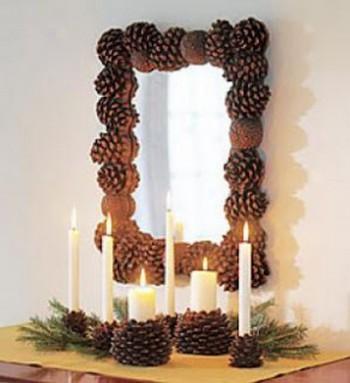 Decorar espejos en Navidad