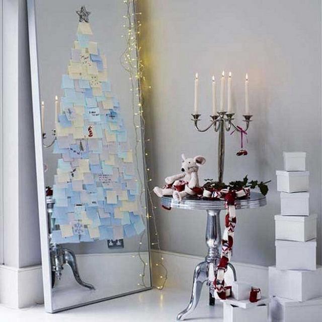 Decorar espejos en Navidad 4
