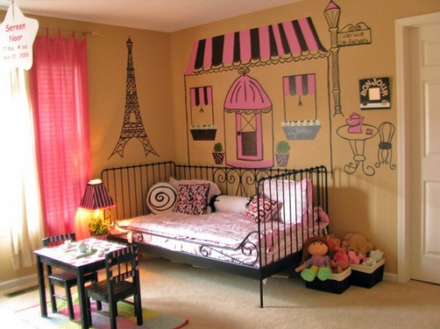 Dormitorio de niñas al estilo paris 2