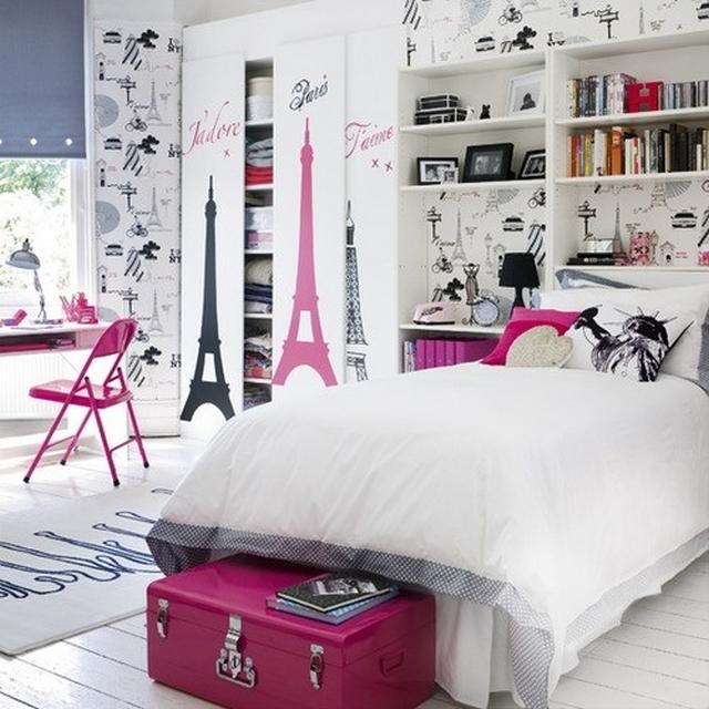 Dormitorio de niñas al estilo paris 3