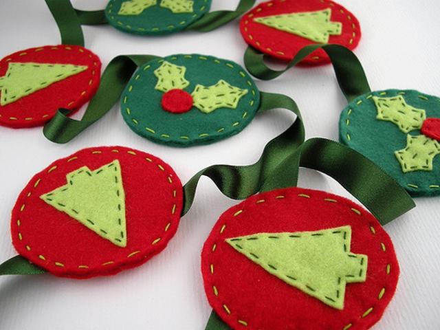 Ideas para decorar en Navidad con fieltro 2
