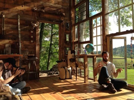 La casa de ventanas interior