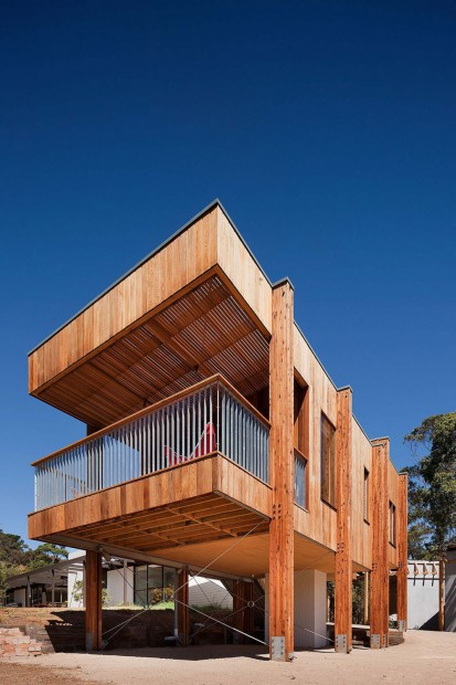 Moderna Casa de Playa fachada