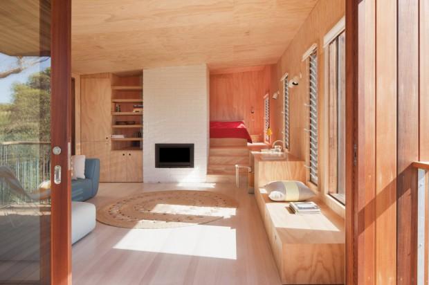 Moderna Casa de Playa interiores