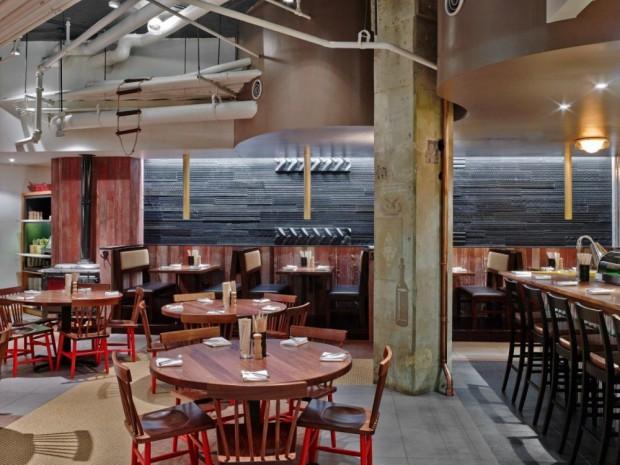 Moderno Restaurante interiores