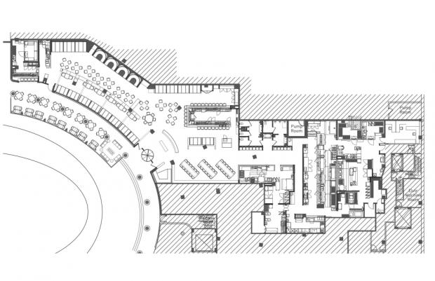 Moderno Restaurante plano