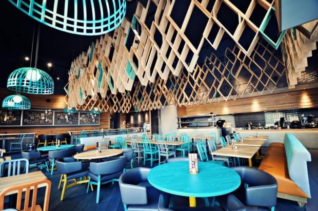 Recycled Restaurant Interior Design : Moderno restaurante británico
