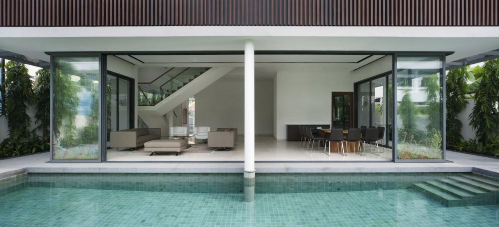 Wallflower Architecture Design Vivienda Moderna En Singapur