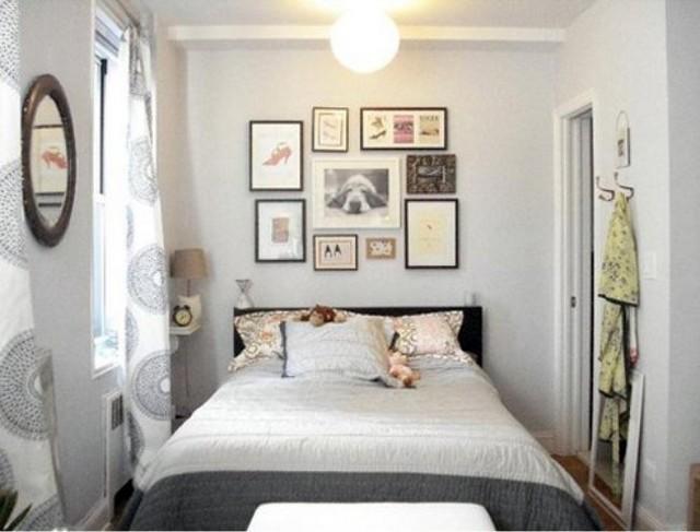Cama grande en dormitorio pequeño 3