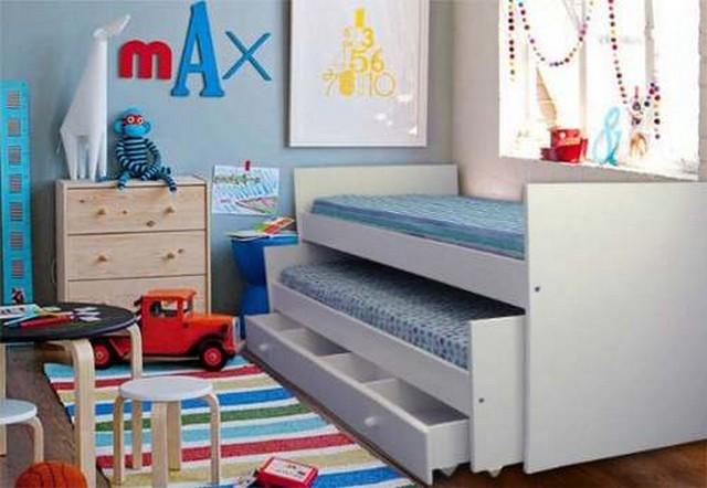 Camas para dormitorios compartidos - Habitaciones infantiles de dos camas ...