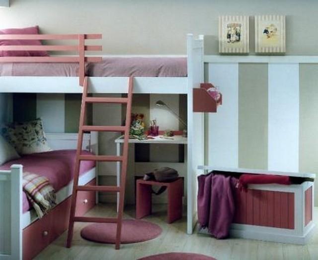 Camas para dormitorios compartidos - Dormitorios infantiles literas ...