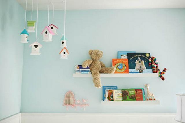 Casitas de pajaros para decorar dormitorios infantiles 2