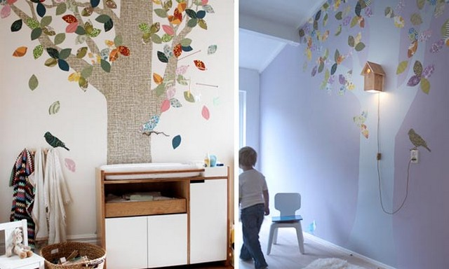Casitas de pajaros para decorar dormitorios infantiles 3
