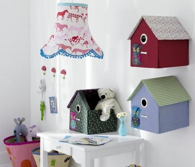 Casitas de pajaros para decorar dormitorios infantiles 4