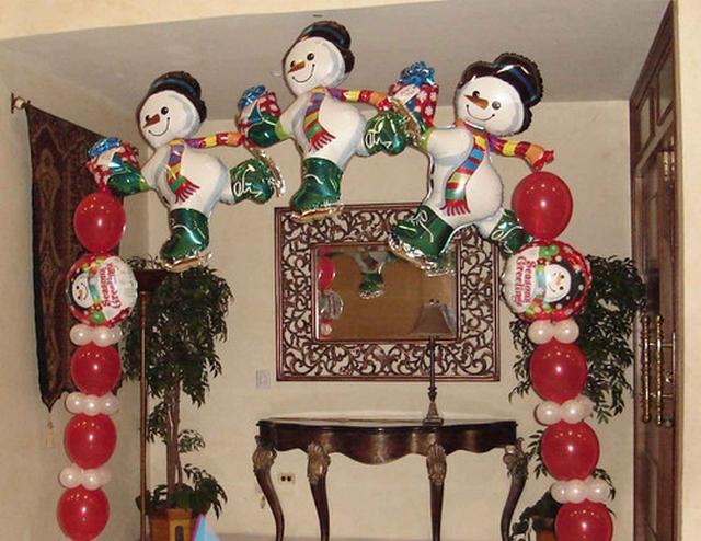 Como decorar un arco navideño 3