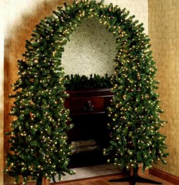 Como decorar un arco navideño