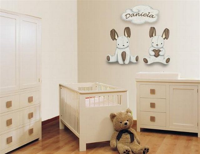 Decoraci n de dormitorio de bebes tem tica conejos for Decoracion habitacion de bebe varon