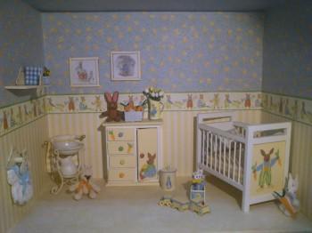 Decoracion de dormitorio de bebes tematica conejos