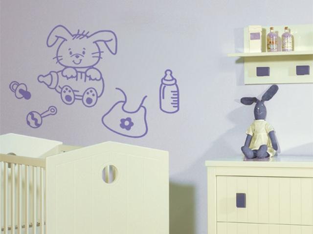 Decoracion de dormitorio de bebes tematica conejos 5