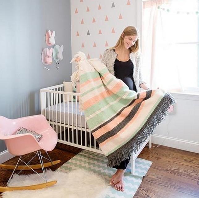 Decoracion de dormitorio de bebes tematica conejos 6