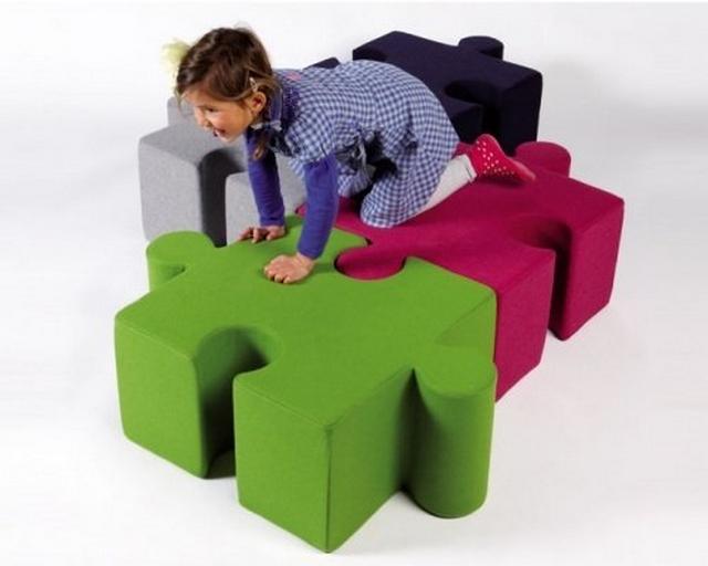 Decoracion de dormitorio infantil tematica puzzle 3