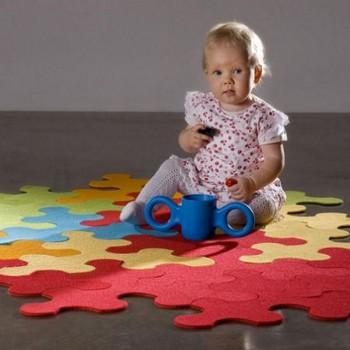Decoracion de dormitorio infantil tematica puzzle