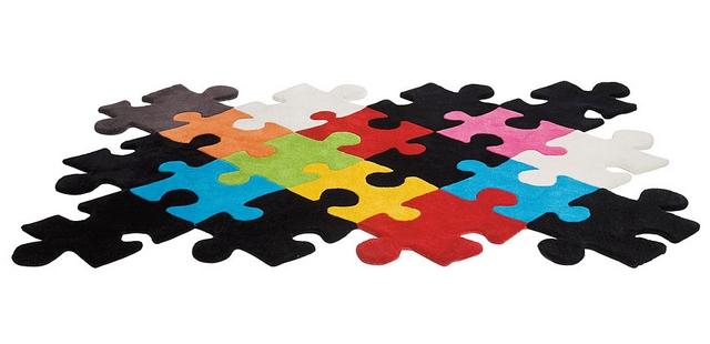 Decoracion de dormitorio infantil tematica puzzle 4
