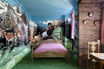 Decoracion de dormitorios que imitan entorno naturales