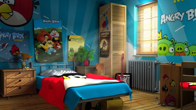 Decoracion dormitorio tematica Angry Birds 2