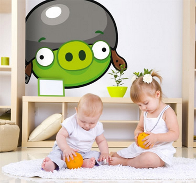 Decoracion dormitorio tematica Angry Birds 3