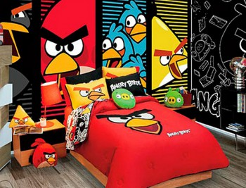 Decoracion dormitorio tematica Angry Birds