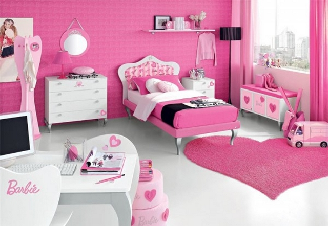 Decorar dormitorio infantil tematica Barbie 2