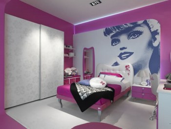 Decorar dormitorio infantil tematica Barbie