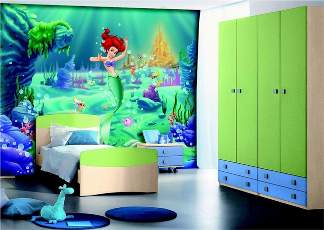 Dormitorio infantil de niñas tematica sirenas 2