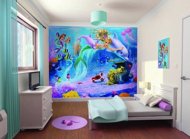Dormitorio infantil de niñas tematica sirenas 3