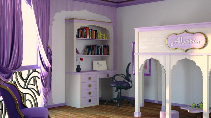 Dormitorio infantil estilo arabe Aladino 3